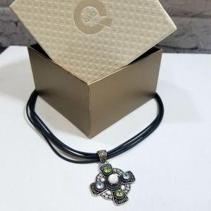 GIFT ALERT Gem Stone Celtic Cross Necklace NEW